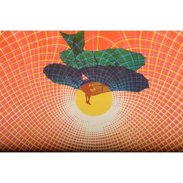 Orange Charlatans & Buddy Guy Original 1967 Rock Concert Poster For Sale - Image 8 of 9