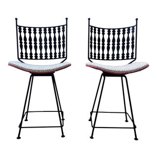 Mid-Century Arthur Umanoff for Shaver Howard Bar Stools – a Pair For Sale