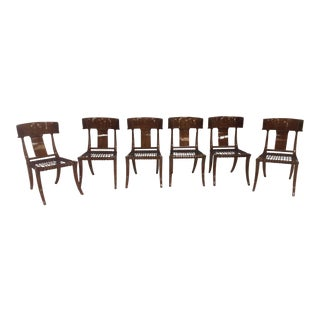 Robsjohn Gibbings Style Klismos Dining Chairs - Set of 6 For Sale