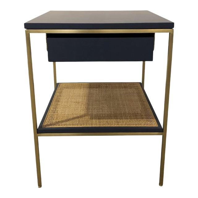 Re: 392 Bedside Table in Kensington Blue Lacquer For Sale