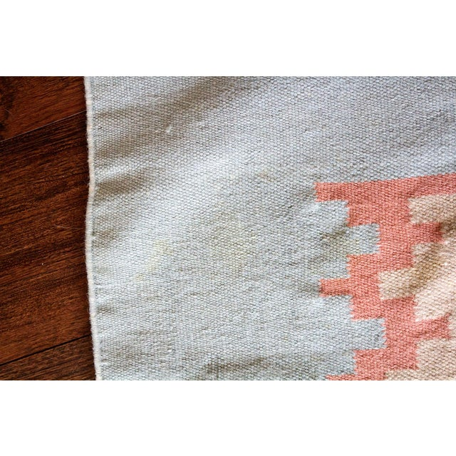 Vintage Mid-Century Navajo Inspired Pastel Rug - 3′8″ × 5′11″ For Sale - Image 10 of 11