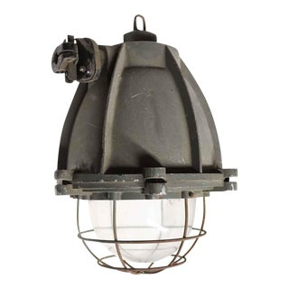 Cast Aluminum Industrial Light With Cage Cover For Sale