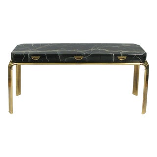 Brass and Faux Marble Console Table by Widdicomb For Sale