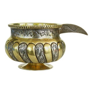 Mid-Century Mexican Sterling Silver and Vermeil Cup with Handle by Tane Orfebres For Sale