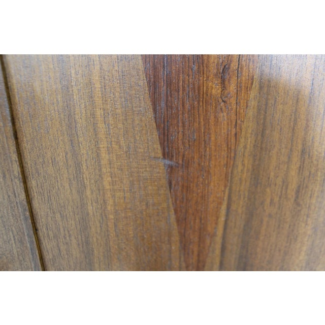 Mid-Century Danish Modern 4-Door Parquet Walnut Credenza Sideboard For Sale - Image 9 of 13