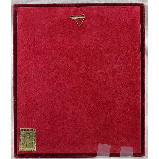 Murano Glass Judaica Gold Menorah Plaque For Sale - Image 4 of 5