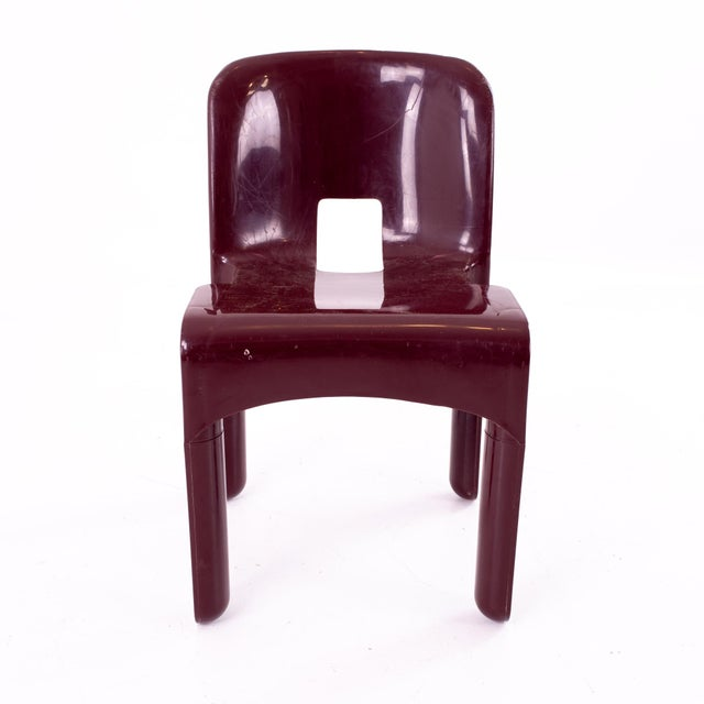 Joe Colombo Kartell Mid Century Plastic Chairs - Pair For Sale In Chicago - Image 6 of 10