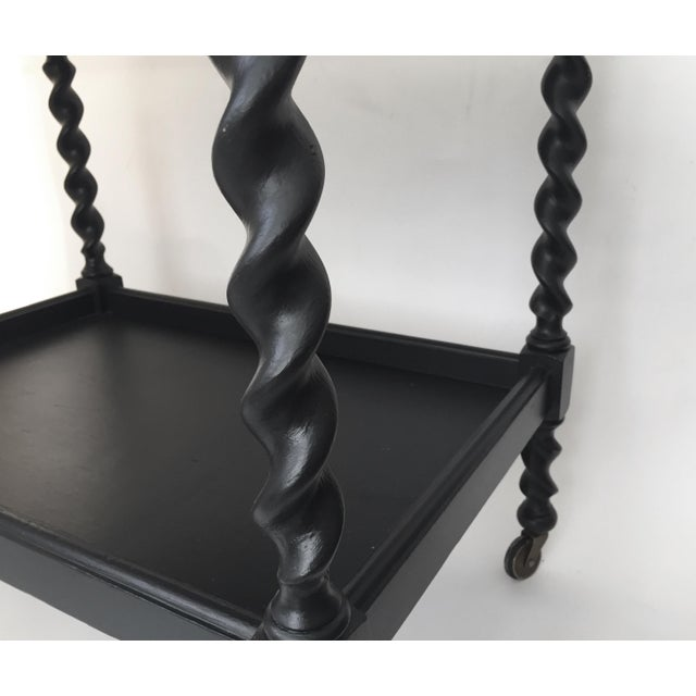 Black Painted Tea Table - Image 5 of 8