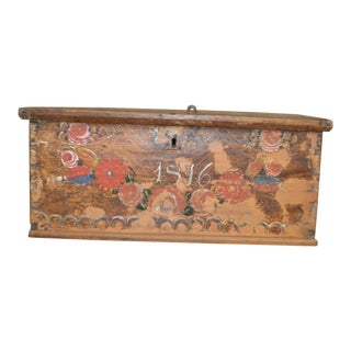 1800's European Chest. (1876 Model) For Sale