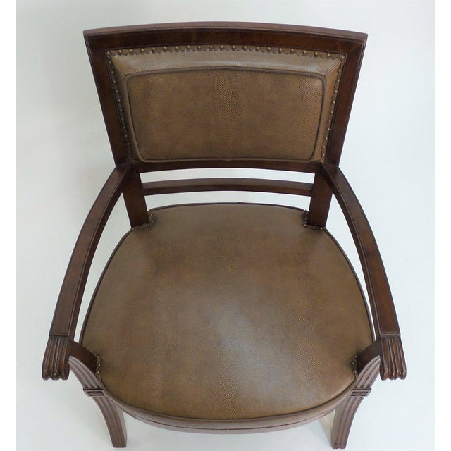 Animal Skin Empire Armchair For Sale - Image 7 of 11