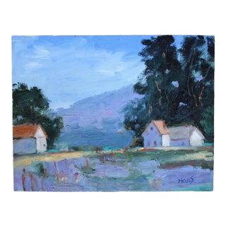 Original Oil Painting, Landscape Mendocino Plein Air For Sale