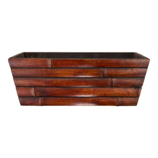 Vintage Bamboo Planter For Sale