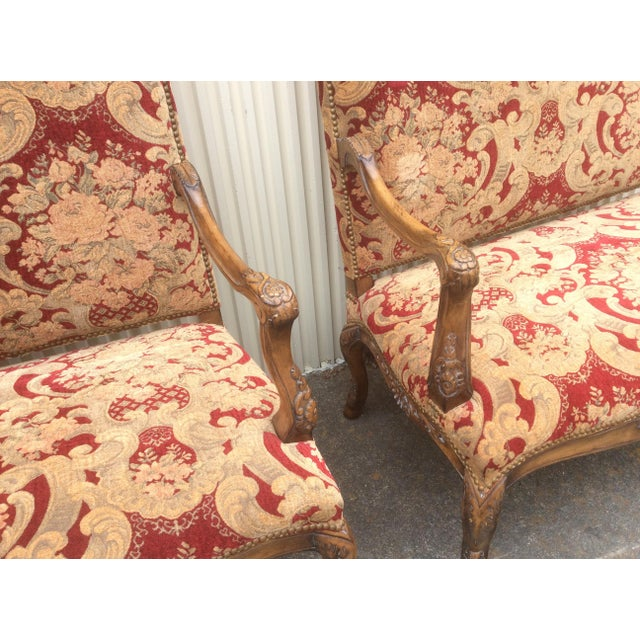 Tuscan Style Settees - a Pair For Sale In San Antonio - Image 6 of 13