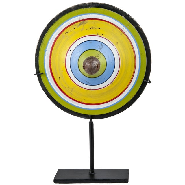Vintage Indonesian Spinning Top on Stand - Image 1 of 5
