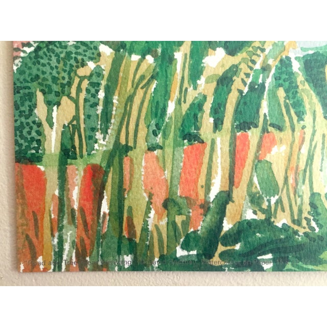 """David Hockney Fine Art Lithograph Print Midsummer : East Yorkshire Series """" Road and Tree Near Wetwang """" 2004 For Sale - Image 9 of 13"""