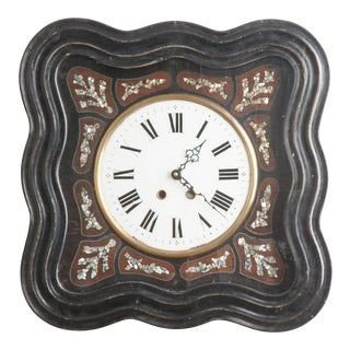 French 19th Century Napoleon III Inlay Wall Clock For Sale