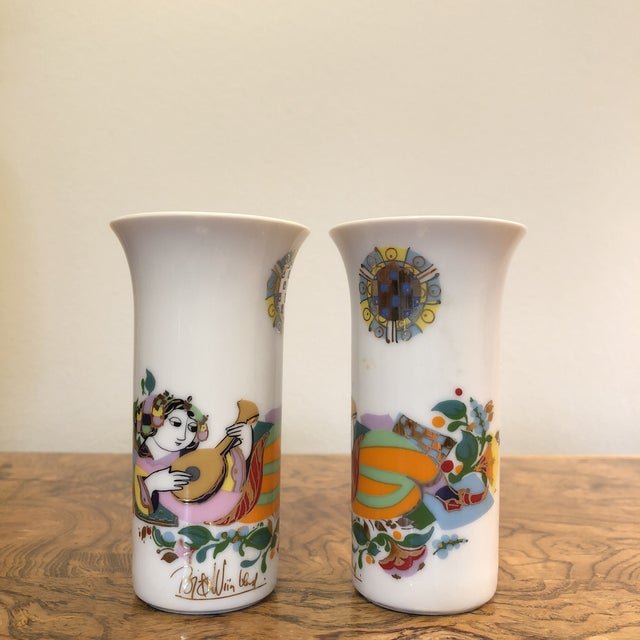 Asian Pair of Cordial Glasses by Bjorn Wiinblad For Sale - Image 3 of 11