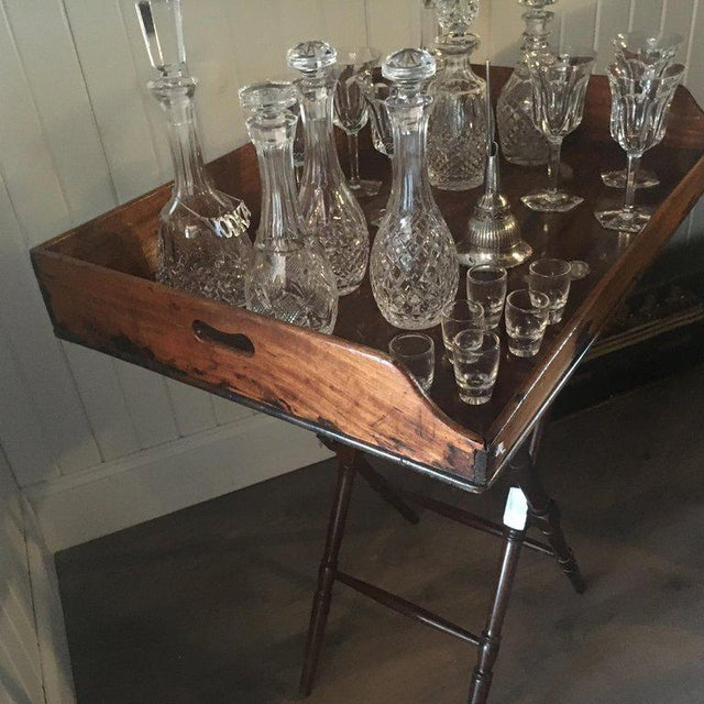 Geo III Mahogany Butlers Tray on Stand For Sale - Image 4 of 10