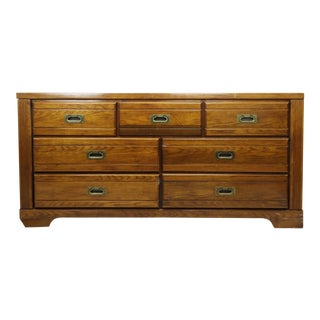 1980s Mid-Century Modern 7-Drawer Wooden Dresser For Sale
