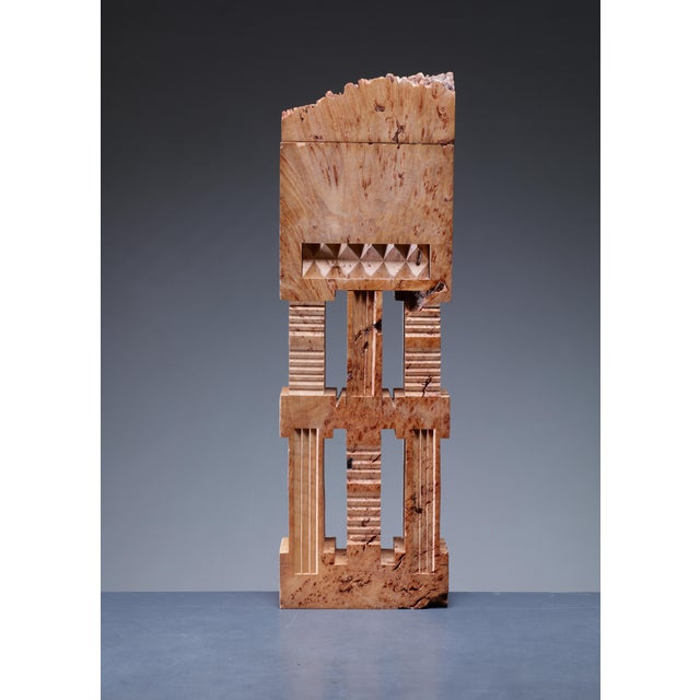 Arts & Crafts Michael Elkan sculptural maple burl sculpture, USA, 1980s For Sale - Image 3 of 3