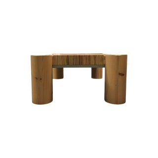 Raw Wood Coffee Table For Sale