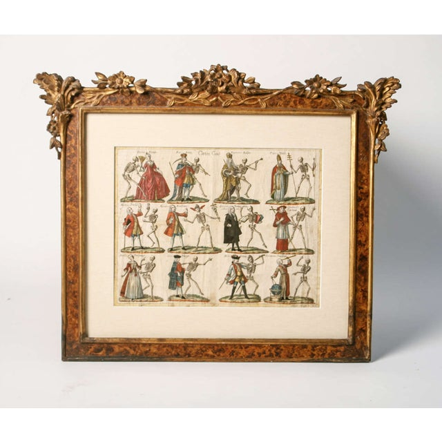 "19th Century German ""Dance With Death"" Aquatints Prints - a Pair For Sale - Image 4 of 10"