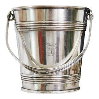 Antique 1910s Hotel Du Palais Paris Hotel Silver Ice Bucket For Sale