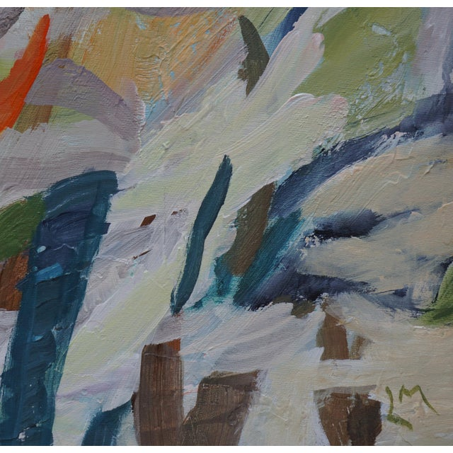 """""""Uncontrolled Chaos"""" Contemporary Abstract Acrylic Painting, Framed For Sale In Los Angeles - Image 6 of 8"""