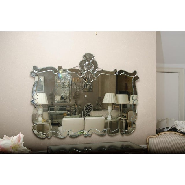 Glass French Deco Mirror For Sale - Image 7 of 7
