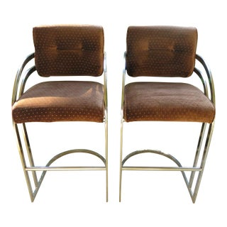 1980's Vintage Bar Stools- A Pair For Sale