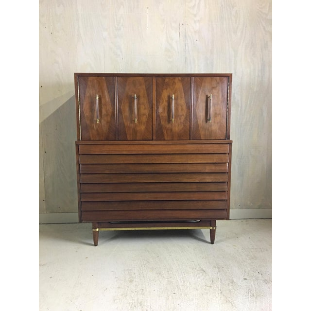 Danish Modern Dania Highboy for American of Martinsville by Merton Gershun For Sale - Image 3 of 9