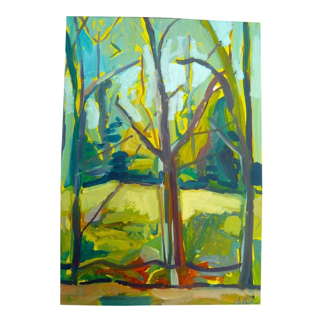 """""""Spring Forest"""" Painting by Martha Holden - Image 2 of 6"""
