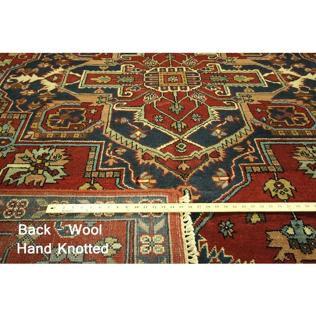 Heriz Oriental Hand Knotted Area Rug - 9'10 x 14' - Image 7 of 10