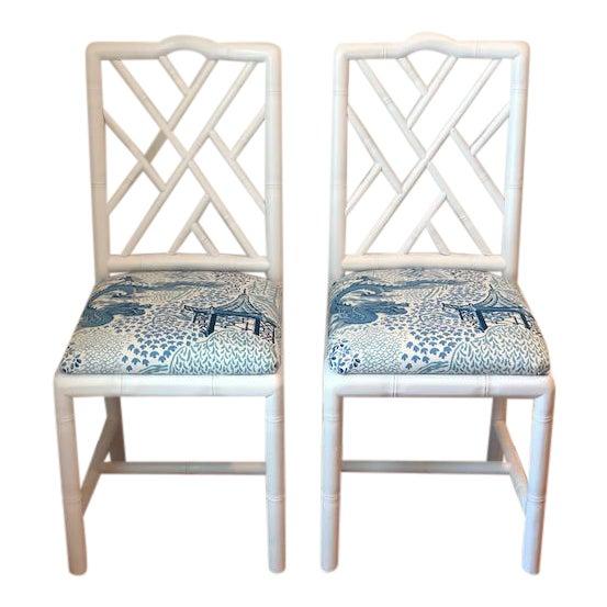 Sarreid Ltd. Brighton Bamboo Chairs - A Pair For Sale