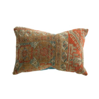Reclaimed Antique Belouch Rug Fragment 11x16 Pillow For Sale