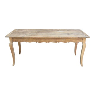 French Cherry Wood Farm Table, 19th Century For Sale