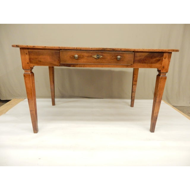 Brown Directoire' Provincial Walnut Farm Table/Desk For Sale - Image 8 of 8