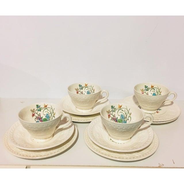 1940s Vintage Wedgwood Montreal Bone China Tea Set of 12 For Sale - Image 13 of 13