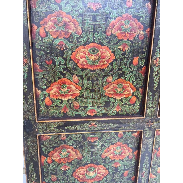 1960s Vintage Chinese Tibetan Cabinet For Sale - Image 5 of 13