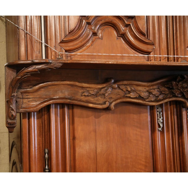 French 19th Century French Carved Walnut Hanging Decorative Shelf From Normandy For Sale - Image 3 of 8