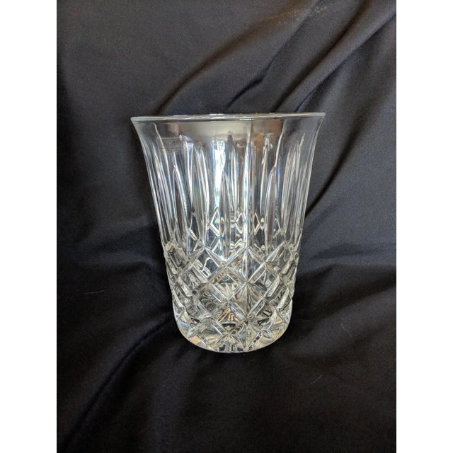 Hollywood Regency Vintage Toscany Lead Crystal Ice Bucket For Sale - Image 3 of 4