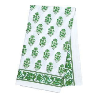Riya Tablecloth, 8-seat table - Green For Sale
