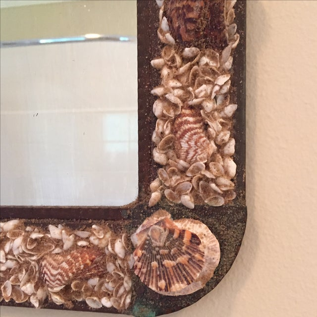 Vintage Shell Mirror For Sale - Image 5 of 5
