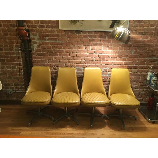 Vintage Mid-Century Modern Chromantic '66 by Chromcraft Dining Swivel Chairs - Set of 4 For Sale - Image 12 of 12