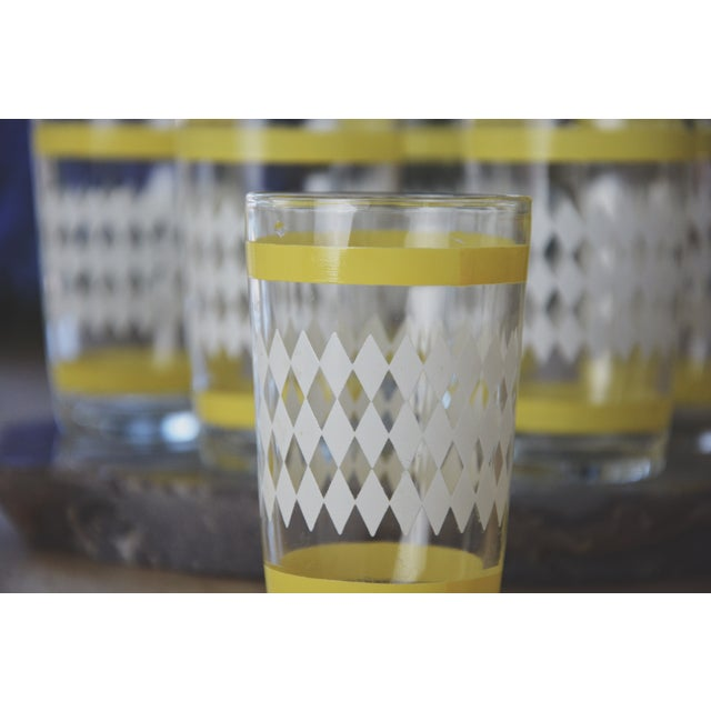 Vintage Harlequin Juice Glasses - Set of 6 - Image 5 of 7