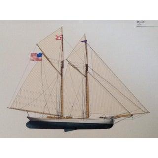 "Vintage ""Magic"" Sailboat Lithograph Print"