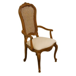 Late 20th Century Thomasville Furniture French Court Collection Cane Back Dining Chair For Sale