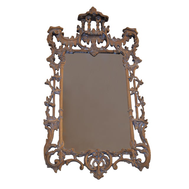Vintage Chinese Chippendale-Style Pagoda Mirror For Sale In Atlanta - Image 6 of 6