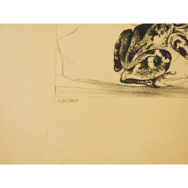 Black Bird & Frog Lithograph For Sale - Image 4 of 5