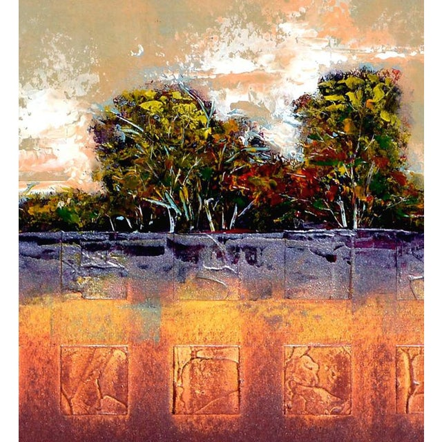 Abstract Tree Line Painting For Sale - Image 4 of 6
